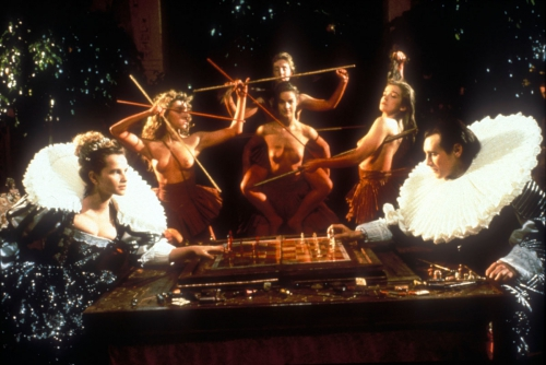 warren clarke,michael edwards,daniel sibony,peter greenaway,prospero's books,miranda,caliban,ariel