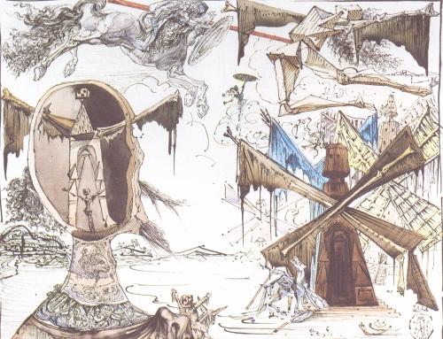 rossinante,maritornes,cheval de guerre,steven spielberg,gustave doré,salvator dali