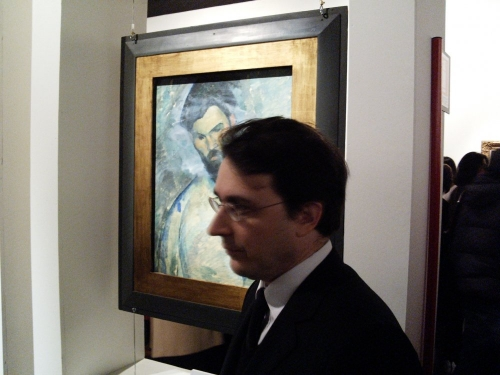 Nabe, Rome, devant Brancusi Modigliani.jpg