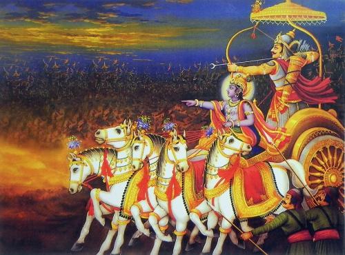 bhagavadgita,krishna,arjuna,veda,ascèse