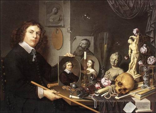 vanité - David Bailly, Vanité aux portraits, Leiden, Stedelijk Museum De Lakenhal, 1651..jpg
